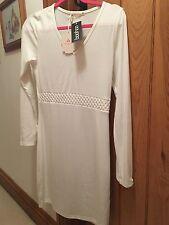 Ladies White Boohoo Dress...Size M