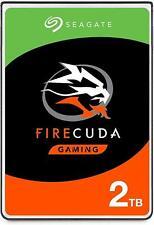 "Seagate FireCuda ST2000LX001 2 TB 2.5"" Hybrid SSHD SATA 6GB/s Gaming Laptops PC"