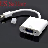1080P Thunderbolt Port Mini DisplayPort DP to VGA AV Adapter for Mac Macbook Pro