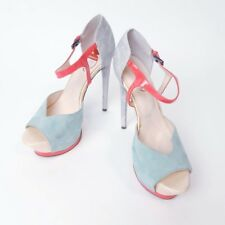 Boutique 9 Nerissa Platform High Heel Sandal Stiletto Turquoise Silver Sz 8