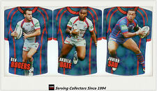 2009 Select NRL Classic Holofoil Jersey Die Cut Card Team Set Knights (6)