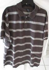 Men's Gray Striped Short Sleeve Polo Shirt from Bugle Boy Size 2Xl Cotton Blend
