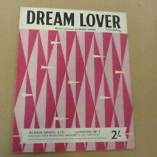 songsheet DREAM LOVER  Bobby Darin, 1959