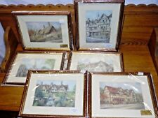 6 Framed Prints - Stratford Upon Avon By Pat Bell - Anne Hathaway's Cottage Hall