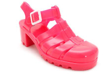 JUJU JELLIES BABE PINK MAN MADE SANDALS SHOES SIZE 6