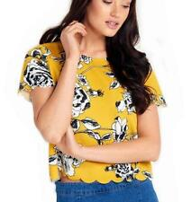 Dotti Polyester Short Sleeve Floral Tops & Blouses for Women