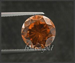 Diamant Brillant Farbe rotorange 1,2 mm, Lupenrein; echte Diamanten