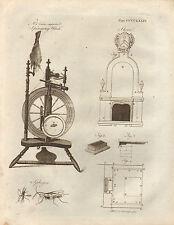 1797 georgiano stampa ~ ANTIS's migliorata filatura RUOTA ~ STOVE spheges