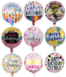 18inch Happy Birthday Round Celebration Party Decoration Foil Helium Balloon