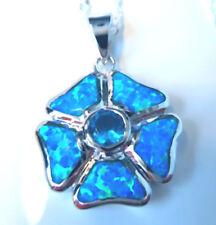 Unbranded Opal Flowers Plants Costume Necklaces & Pendants