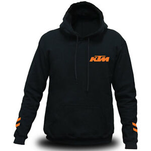 Genuine Official KTM FreeRide Motorcycle Duke Motocross MX Black Hooded Hoodie