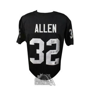 Marcus Allen Autographed Raiders Custom Black Football Jersey SB XVIII MVP - JSA