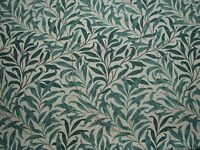 "WILLIAM MORRIS CURTAIN FABRIC ""Willow Bough's Major"" 1 METRE TAUPE/GREEN"