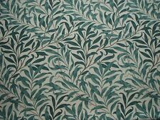 "WILLIAM MORRIS CURTAIN FABRIC ""Willow Bough's Major"" 4.3 MTRS TAUPE/GREEN 430CM"