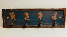 DISNEY Wilderness Lodge Resort Room Prop Wall Rack Coat Rack Mickey Minnie Pluto