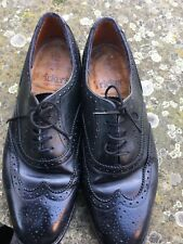TRICKERS wingtipped Brogues Shoes Size 7  Custom Grade Vintage Well Used