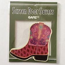Ganz Screen Door Saver Western Boots Cowgirl Pink Purple 2pc Magnet Set New