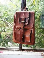 Travel Women's Bag New Genuine softer Leather Back Pack Rucksack Laptop