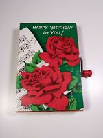Vintage Happy Birthday Musical Mattel Barker Greeting Card Roses - Plays Music