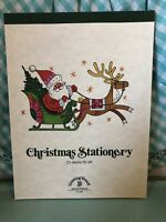 Vtg Drawing Board Christmas Stationery 25 Sheets Santa Reindeer Writing Letters