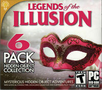 LEGENDS OF THE ILLUSION Hidden Object Games 6 PACK PC DISC ONLY NO CASE NO ART