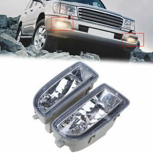For Toyota Land Cruiser J100/105 1998-2007 Pair Front Fog Lights Lamps Housing