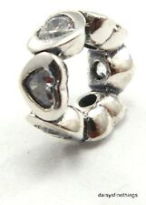 NWT AUTHENTIC PANDORA SILVER CHARM SPACE IN MY HEART SPACER CLEAR CZ #791252CZ