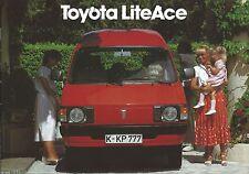 Auto Van Truck Brochure - Toyota - LiteAce - GERMAN prospekt - c1981 (T2141)