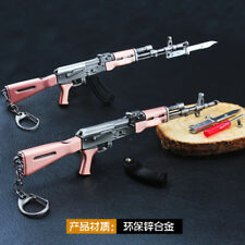 PUBG 1/6 AK47 Battlegrounds BattleField4 AKM  Assault Rifle Assemble metal 20cm