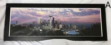 "Framed Seattle Washington Sunset Skyline Panorama Photo Poster Art Print 39"""
