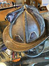 Vintage Leather Firemen Helmet