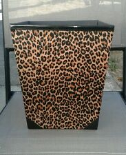 New Leopard print wastebasket trash can bin. Bedroom / Bathroom / Office