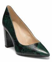 NIB $90 MARC FISHER -Viviene4 Pump Dark Green Snake Print Women's Shoes US 7.5 M