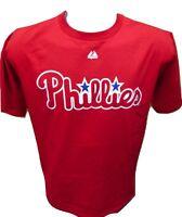 Mens Majestic MLB Philadelphia Phillies Baseball Shirt NWT $22 S, M