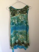 **AS NEW** size 14 Lovely Blue & Green Summmer Dress Style Top by Filo