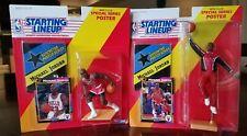 (2) MICHAEL JORDAN 1992 Starting Lineup SLU Chicago Bulls Figures card & poster