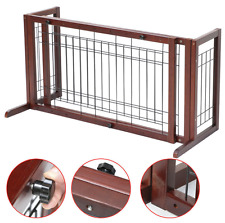Indoor Home Safety Wood Baby Barrier Free Standing Extra Wide Pet Fence Gate Dog