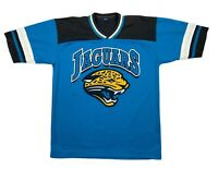 Jacksonville Jaguars NFL Mens Short Sleeve V Neck Jersey Blue Black