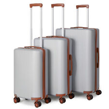 Hardside Expandable Luggage with Spinner Wheels, Silver, 3-Piece Set (20/24/28)