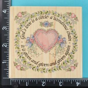 God's Love is a Circle 70029 Stamps Happen Linda Grayson Wood Rubber Stamp