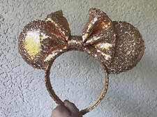 Rose Gold Sequin Minnie Mouse Ears