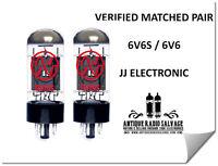 (2x) NEW 6V6-S JJ / Tesla Audio Output Tubes - CURRENT MATCHED PAIR 6V6GT