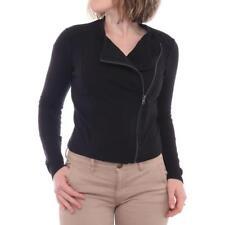 Abrigos y chaquetas de mujer motera/de cuero color principal negro