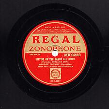 Plus rares George Formby 78 assis sur le sable toute la nuit Regal Zonophone Monsieur 2232 EX