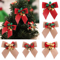 """NEW CHRISTMAS PRESENT BOW BELLS /& SIGN /""""Teachers R a Gift/"""" HANGING TREE ORNAMENT"""