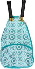 LISH Women's Deuce Geometric Square Printed Tennis Racket Holder Backpack Bag