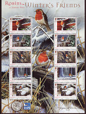 ISLE OF MAN 2004 WINTER FRIENDS - ROBINS MINIATURE SHEET UNMOUNTED MINT