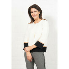 Emreco Jordi Wide Sleeve Short Knitted Jacket - White - 10 12 14 16 - Was £59.95