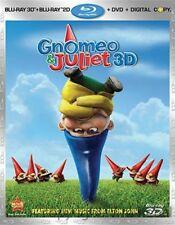 Gnomeo & Juliet Blu ray3D/Blu-ray/DVD, 2011, 3-Discs Includes Digital Copy New