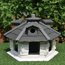 XXL Vogelhaus Weiß Grau Vogelfutterhaus Holz Vogelvilla Vogelhäuser Futtersilo
